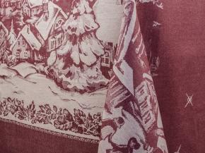 """ОБР 1761  Скатерть 170*229  """"Ночь перед Рождеством""""  цв. бордо"""