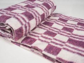Одеяло хлопковое 140*205 клетка Колосок цв. фиолетовый