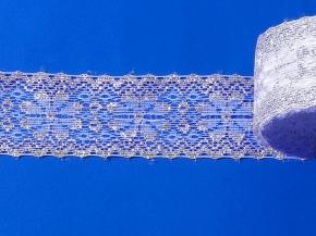 16С5-Г10-Л Кружево рис.98/85 ш.50мм, белый/серебро (рул.50м)