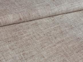 Ткань 1654ЯК п/лен пестр. бел/цв ХМ усадка рис.9,19 коричневый сорт 1, ширина 150 см