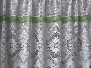 1.80м 2С4-Г10 рис.18058 полотно гардинное зеленая нить