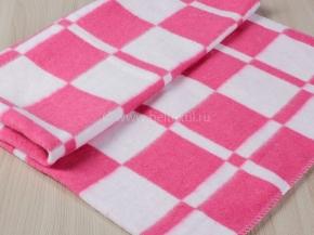 """Одеяло байковое 90*100 """"Клетка"""" цв. розовый"""