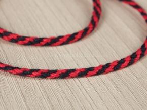 3мм. ШХ8-003-5/7 Шнур, D-3мм, х/б 100%, т.синий/красный