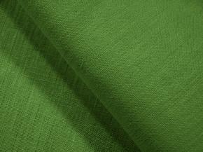 Ткань костюмная 176003 лен гладкокрашеный цвет Трава 1222, ширина 150см