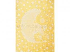 Одеяло п/шерсть 50% 100*140 жаккард цв. желтый