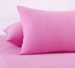 Набор наволочек махровых из 2-х штук 70*70 розовый
