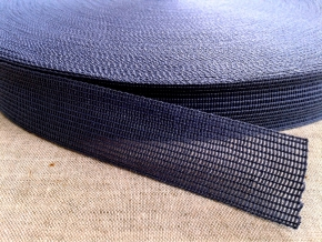 Тесьма вязан.окантовочная 22мм (2,4гр/м), синий (рул.100м)