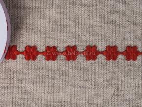 095030064 Лента декоративная шир.12мм, красные цветы (уп.25ярдов/22,86м)