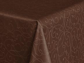 "Ткань скатертная арт.14С7SHT ""Мирелла"" рис.001 цвет 191020 шоколад, ширина 310 см"
