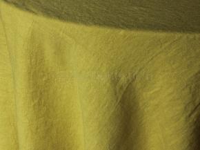18С214-ШР/л.с.уп. Скатерть 100% лен 135*160  цв. 284 желтый