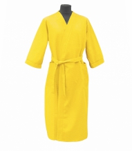 Халат вафельный женский размер 52 цвет желтый