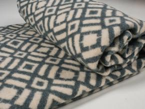 Одеяло п/шерсть 85% 140*205  жаккард  цв 6 светло-серый