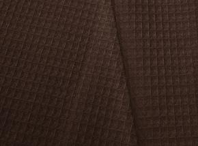 15с169/150/1 полотно ваф. гл/кр крупная клетка 7*7 мм  ш- 150 см  230г/м2  шоколад 095