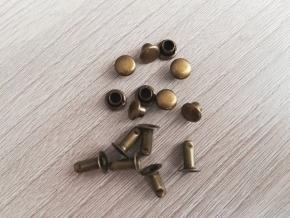 Хольнитен (заклёпка) 6х8х6х3мм, антик (уп.100шт)