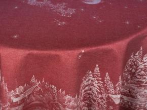 07с24- ЯК Скатерть D-178 Рождество цвет бордо