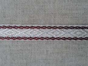 08С3474-Г50 ЛЕНТА ОТДЕЛОЧНАЯ лен с бордовым 12мм