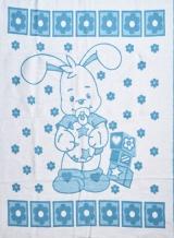 Одеяло хлопковое 100*140 жаккард 6/10 цвет голубой
