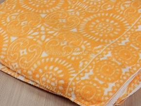 Одеяло байковое 170*205 жаккард  цв. оранжевый