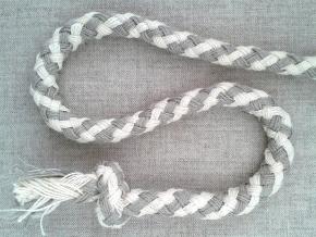 ШХ8-010-1/3 Шнур, D-10мм, х/б 100%, натуральный/серый