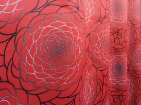 Ткань блэкаут T RS 971-01/140 P BL Pech красный, ширина 140см