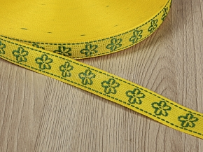 18мм. 06С3324-Г50 ЛЕНТА ОТДЕЛОЧНАЯ желтый с зеленым 18мм (рул.50м)