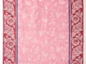 Холст полотенечный арт.17с-12ЯК п/л пестр. бел/цв жакк 50 василек/9 роз.бордо.