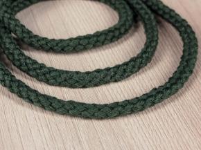 7мм. ШХ8-007-6 Шнур, D-7мм, х/б 100%, зелёный