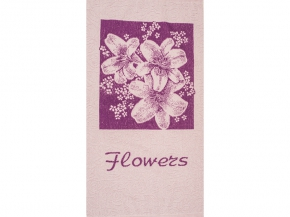 6с102.411ж1 Flowers Лилии Полотенце махровое 67х150см