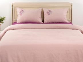 """20с247-ШР/уп. 220*210 КПБ """"Акварель"""" цв 320 розовый с фиолетовым"""