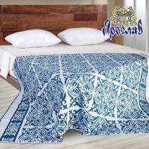 Одеяло хлопковое 170*205 жаккард 1/2 синий