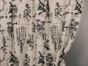 Ткань интерьерная 176099 п/лен п/вар набивной 672/2 Ботаника ширина 150см