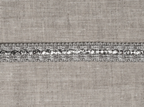 Тесьма HK AG917Y-13263 (25m) серый/серебро