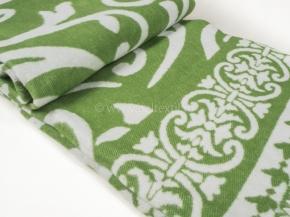 Одеяло хлопковое 140*205 жаккард  3/23 Завиток цв.зеленый