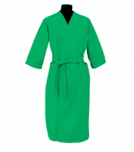 Халат вафельный женский 3/4 р-р 52 зеленый