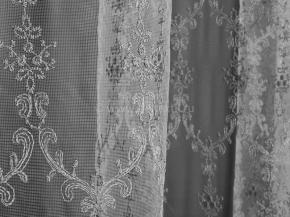 3.05 Сетка вышивка B19 EMIRIM (GRI) белый с серым