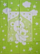 Одеяло хлопковое 100*140 жаккард 10/5 цвет салатовый