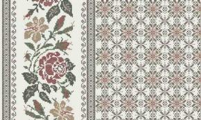 Ткань сувенирная рогожка набивная рис. Розочки 352/4 б/з бордо, ширина 150 см