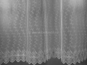 2.80м Сетка вышивка Brilliant BL 42-w/280 SB белая, ширина 280см