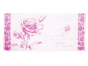 """6с102.411ж1 """"Роза на конверте"""" Полотенце махровое 67х150см"""