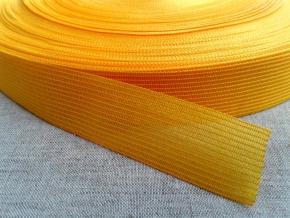 Тесьма вязан.окантовочная 22мм (2,4г/м), желтый (рул.100м)