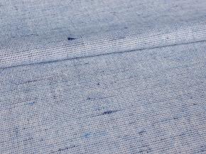 Ткань 1419ЯК 506099 ХМ усадка п/лен пестроткань цв. белый/голубой 6,1/6,52, 150см