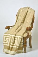 Одеяло п/шерсть 70% 170*205 жаккард цвет бежевый