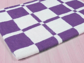 Одеяло байковое 90*100 клетка цв. фиолетовый