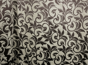 Ткань блэкаут T RS 4894-130/145 PJac BL черный с бежевым, ширина 145см