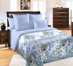 1250П КПБ 1,5 спальный Эквадор голубой