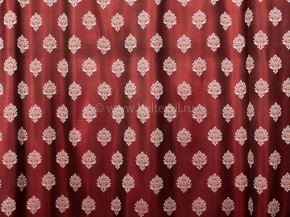 Портьера  T HY 9366-06/280 PJak т.красный, ширина 280см