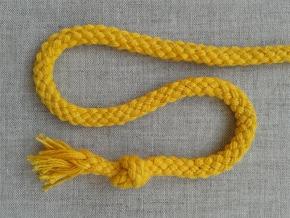 ШХ8-007-4 Шнур, D-7мм, х/б 100%, жёлтый