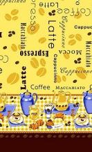 """Полотенце вафельное 40*75 """"Кофе"""" цвет желтый"""