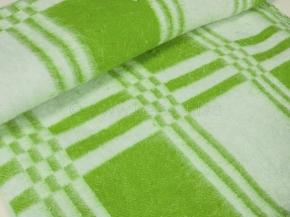 Одеяло байковое 200*205 клетка цв. салат