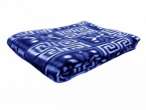 Одеяло п/шерсть 50% 140*205 жаккард цвет синий